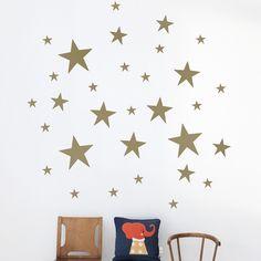 Stars Kids Wall Sticker in Gold