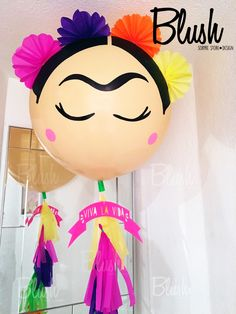 Frida Kahlo party Globo gigante Giant balloon Frida Kahlo