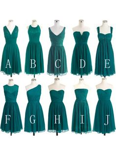short bridesmaid dresses,mismatched bridesmaid dresses,teal bridesmaid dresses,cheap bridesmaid dresses,custom bridesmaid dresses, 1784