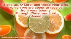 Prayer before meal - dinner grace prayer