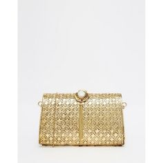 From St Xavier Gold Floral Embossed Clutch Bag With Stone Tassel... ($105) ❤ liked on Polyvore featuring bags, handbags, clutches, gold, floral print handbags, stone handbags, embossed handbags, gold purse and floral purse