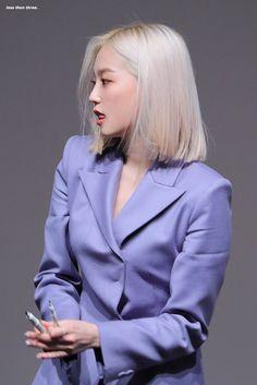 Korean Short Hair, Korean Girl, Asian Girl, Short Blonde, Blonde Hair, Jang Yeeun, Classy Suits, Girl Crushes, K Idols