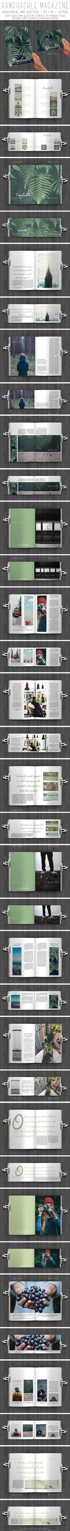 Ramshackle Magazine  #a4 #a5 #beautiful • Click here to download ! http://graphicriver.net/item/ramshackle-magazine/12388819?s_rank=119&ref=pxcr