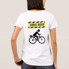 """Shop """"Big bum"""" custom cycling tees for women created by Ebike_Goodies. Personalize it with photos & text or purchase as is! Cycling For Beginners, Cycling T Shirts, Custom Cycles, Cycling Workout, Easy Rider, Tees For Women, Gifts For Her, Mens Tops, Shopping"""