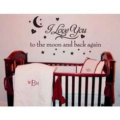 Decal Wall Sticker Removable Love You To The Moon --. Starting at $17 on Tophatter.com!
