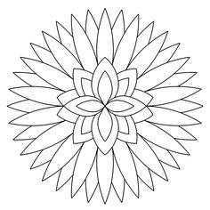 """Flower"" geometrycoloringpages.com"