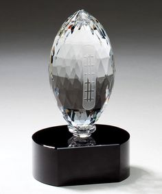 This Optic Crystal Football is ready for a field goal kickoff as it sits on a crystal black base. Recognize a star player or coach when you have their name your custom words of praise deep engraved in the black base. Football Awards, Football Icon, Football Love, Fantasy Football Names, Fantasy Football League, Sports Trophies, Football Trophies, Black Crystals, Perfume Bottles