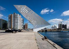 Dorte Mandrup builds perforated observation tower in Aarhus