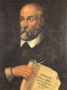 Andrea Palladio nel 1576, in uno dei pochissimi ritratti ritenuti attendibili.[1] Olio su tavola, attribuito a G.B. Maganza. Vicenza, Villa Valmarana ai Nani.