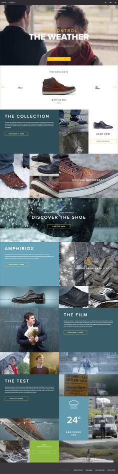 Nice modern lifestyle based landing page for Amphibiox Geox. Does a great job on highlighting the value behind the shoes and telling a story Latest Modern Web Designs. http://webworksagency.com