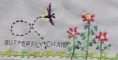TAST 2012 Week 21  Butterfly Chain Stitch | by stitchintime posted by Gayle Schipper