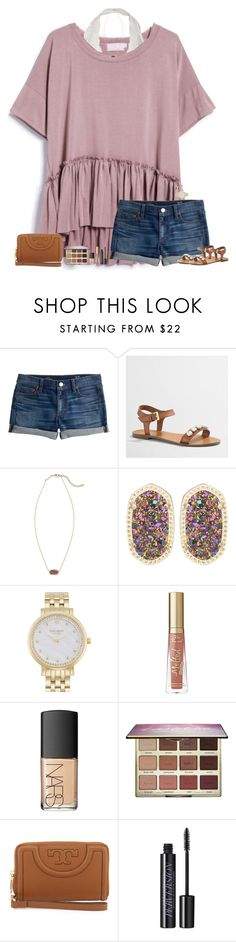 """m a j o r t a n l i n e s"" by maggie-prep ❤ liked on Polyvore featuring J.Crew, Kendra Scott, Kate Spade, NARS Cosmetics, tarte, Tory Burch and Urban Decay"