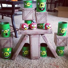 Theres a life size angry birds game and yes you can make it from karas party ideas home made angry birds game angrybirds solutioingenieria Images