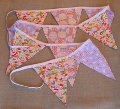 Fabric Banner - Fabric Bunting - Spring Easter - Purple by monkeyandlamb on Etsy