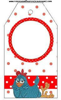 Faça Fácil Festas: Kit Festas Vermelho da galinha Pintadinha para imprimir