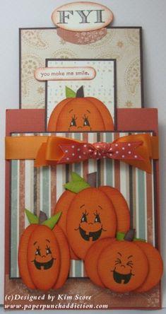 Pumpkin double slider card - bjl