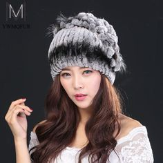 Women winter fur hat fashion natural rex rabbit with fox fur hats hot 2016 new Russian female quality warm caps #>=#>=#>=#>=#> Click on the pin to check out discount price, color, size, shipping, etc. Save and like it!