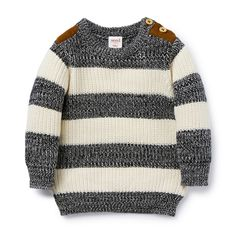 Shop now: Stripe Crew Sweater. #seedheritage #seedbaby