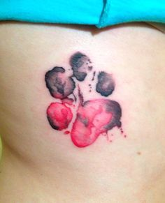 watercolor dog paw tattoo - Google Search
