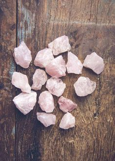 Love is all you need! Rose quartz is known as the stone of love, promoting unconditional love and friendship. Perfect little table toppers! - Half (1/2) pound bags contain 6 to 8 pieces of rose quartz                                                                                                                                                                                 More