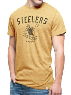 Pittsburgh Steelers 47 Brand Gold Tri-State Legacy 1962 Tri-Blend T-Shirt 1f04d0cff