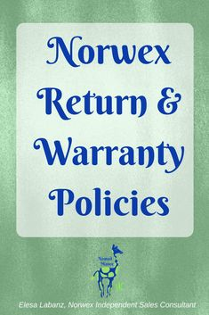 Norwex wants you to be 100% Satisfied with your purchase! #nomadmanor #norwexproducts #norwex #ecofriendly #microfiber #norwexwarrany