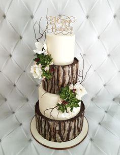 Wedding themes unique beautiful cakes 28 Best ideas wedding cakes cakes elegant cakes rustic cakes simple cakes unique cakes with flowers Birch Wedding Cakes, Fall Wedding Cakes, Wedding Cake Rustic, Rustic Cake, Unique Wedding Cakes, Wedding Cake Designs, Wedding Cupcakes, Wedding Themes, Trendy Wedding