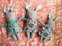 Bunnies made from Silke's pattern-  http://www.marthastewart.com/how-to/stuffed-bunny