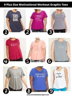 9 Plus Size Motivational Workout Graphic Tees – Estrella Fashion Report