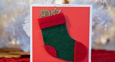 Huopainen joulusukkakortti Christmas Stockings, Holiday Decor, Home Decor, Needlepoint Christmas Stockings, Decoration Home, Room Decor, Christmas Leggings, Home Interior Design, Home Decoration