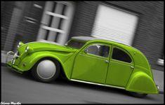 retro french cars (mainly 2cv)