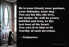 He is your friend...