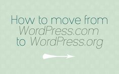 Moving Your Blog from WordPress.com to WordPress.org - Noor AlQahtani