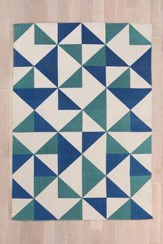 Assembly Home Rotating Triangle Rug (would need a rug pad underneath)