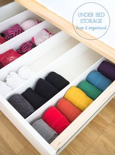small space living - keeping your underwear organised