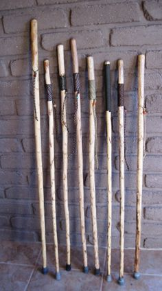 Yucca Hiking Sticks by DesertDebrisArt on Etsy Handmade Walking Sticks, Wooden Walking Sticks, Walking Sticks And Canes, Walking Canes, Bushcraft, Cane Tips, Wooden Staff, Tobacco Sticks, Hiking Staff