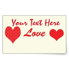 Romantic Wedding Valentine Red Hearts Rectangular Sticker