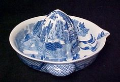 Blue Willow Porcelain XL Juicer Reamer Grapefruit New | eBay