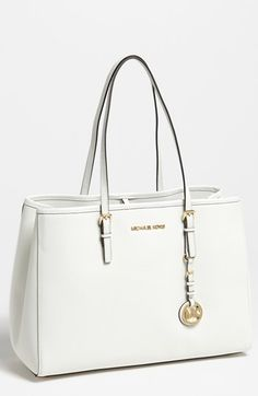 Cute work purse (+laptop) in black or luggage.  MICHAEL Michael Kors 'Jet Set - Large' Travel Tote available at #Nordstrom