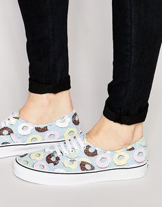 Vans+Late+Night+Pack+Authentic+Donut+Plimsolls+In+Blue+V3B9IFF
