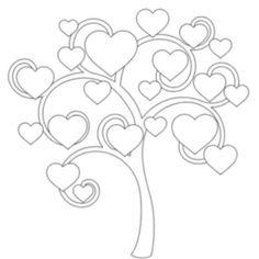 Bubble Tree coloring page Tree Coloring Page, Colouring Pages, Coloring Books, Kids Coloring, Adult Coloring, Hearts And Roses, Red Roses, Bubble Tree, Heart Tree