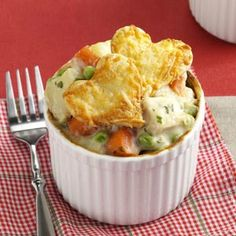 Love You Potpies Recipe from Taste of Home -- shared by Laurie Jensen of Cadillac, Michigan