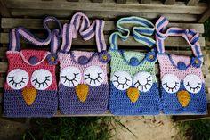 Crochet Sleepy Owl Bag