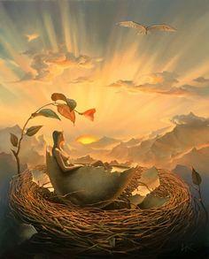 Birth of Love, by Vladimir Kush