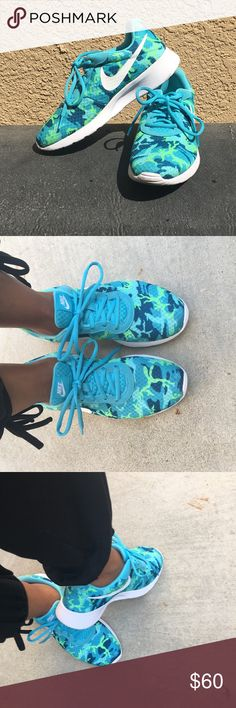 ❤️ Nike camouflage sneakers Super cute Nike camouflage sneakers size 8. Worn three times in EUC. Light dirt shown on the corner by shoelace as pictured. super comfortable just too big for me. Pet free smoke free home Nike Shoes Athletic Shoes