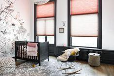 Combineer kleuren met een twee in één model #bece #kinderkamer #dupligordijn #inspiratie www.bece.nl