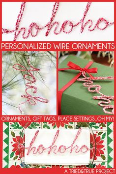 Personalized Wire Ornaments