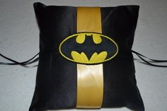 Batman pillow  Ring pillow by BridalBliss2000 on Etsy