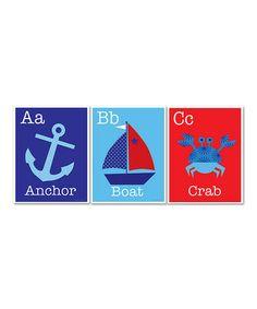 ABC Nautical Print Set by Ellen Crimi-Trent