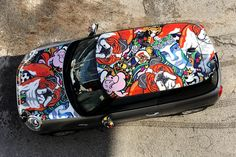 """MINI Cooper F56 - """"OXANA PRANTL Edition"""". You can order  different MINIs with my Design in MegaDenzel Vienna! Vienna, Four Square, Minis, Messenger Bag, My Design, Satchel, Cars, Satchel Bag, Vehicles"""